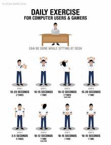 Desk Exercises by Daily Exercises For Computer Users And Gamers