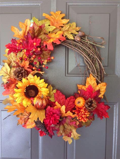 diy fall wreaths diy fall thanksgiving wreath diy indoor