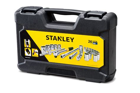 Lippro 1 2 Dr 22 Pcs Socket Set 3312s 6pt 3 8 1 1 4 De3 stanley tools mechanics sockets and ratchets