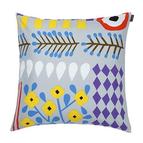 Marimekko Pillows Sale by Marimekko Akankaali Grey Multi Throw Pillow Marimekko