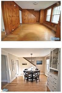 painting paneling before and after 25 best ideas about wood paneling update on pinterest