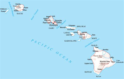 A Map of Hawaii. Hawaiian Maps and Pictures