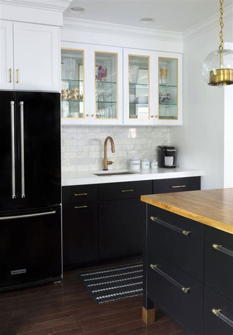 kitchen designs with black cabinets tuxedo kitchen inspiration in black and white tile mountain
