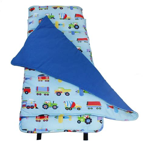 Nap Mats For Toddlers And Children trains airplanes trucks blue nap mat child