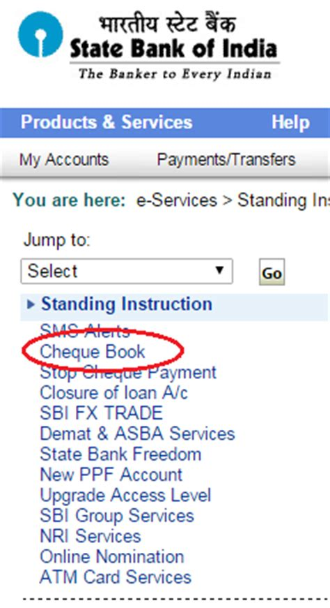 application letter for new cheque book sbi how to request cheque book in sbi