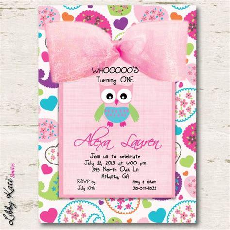 printable first birthday owl invitations owl birthday invitation girl first birthday birthdays