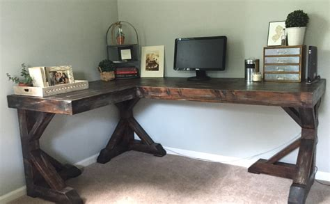 Diy Table Desk by Diy Corner Desk I This House
