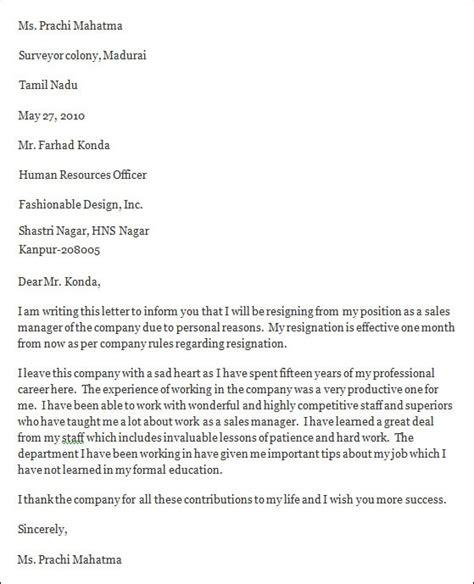 professional resignation letter templates