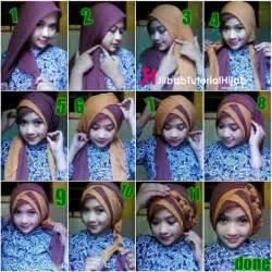 tutorial hijab untuk ke pesta dan wisuda tutorial hijab segi empat 2 warna untuk wisuda dan lebaran