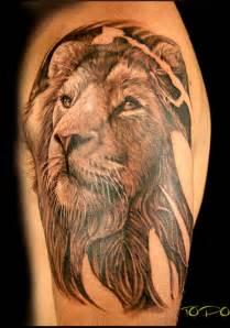 creative lion tattoos on arms cool animal tattoos