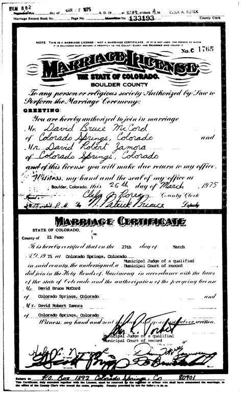 Colorado Marriage Records Archives Backupilike