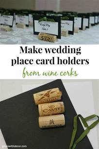 how to make place cards green with decor wedding place cards from wine corks