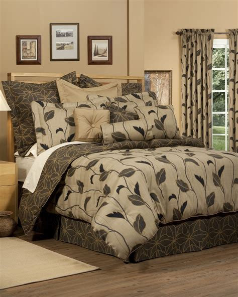 leaf pattern bedding comforter set bedding curtain valance the curtain shop