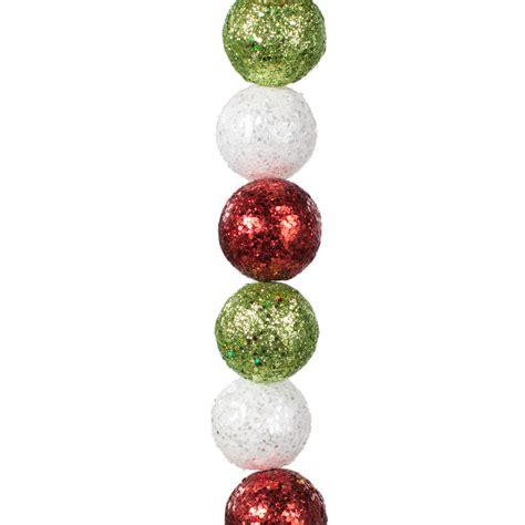 6 glitter ball garland christmas xg666651