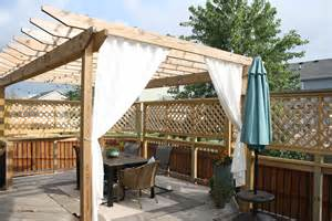 diy pergola curtains diy