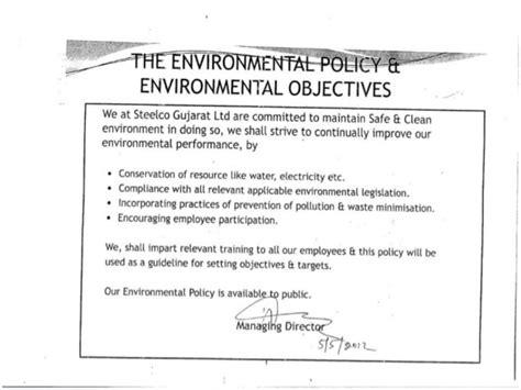 environmental procedures template iso 14001 ems awarness