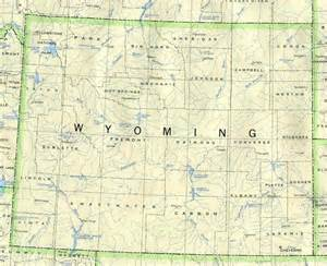 road map of wyoming and colorado wyoming base map