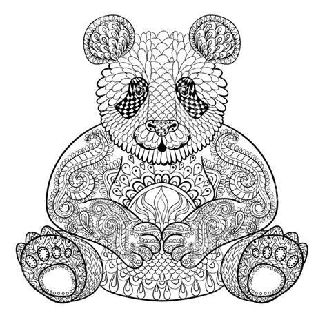 bear mandala coloring pages adult coloring pages panda adult coloring pages and