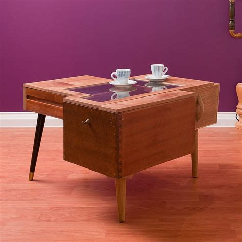 upcycled coffee table with drawers by furniture magpies