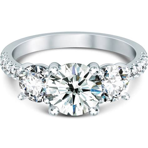 three scallop prong side engagement ring