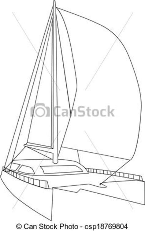 catamaran lines drawing vector clipart of sailing catamaran csp18769804 search
