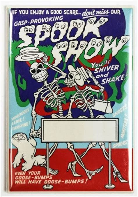 spook show fridge magnet vintage style  show poster
