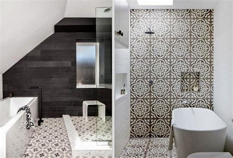 patterned bathroom wall tiles