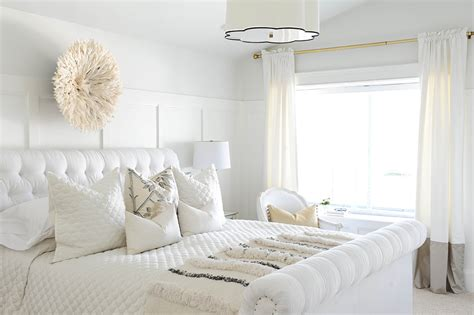 7 tips for creating the white bedroom glitter