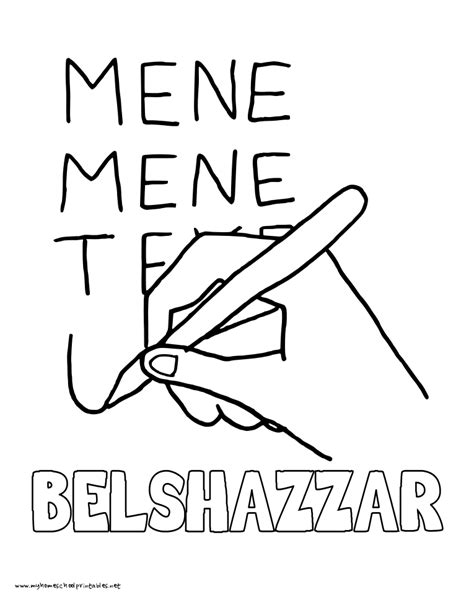 king belshazzar coloring pages writing on the wall teaching resources king belshazzar