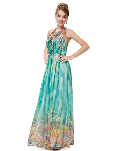 Print Halter Chiffon Dress green floral sleeveless print chiffon halter maxi dress