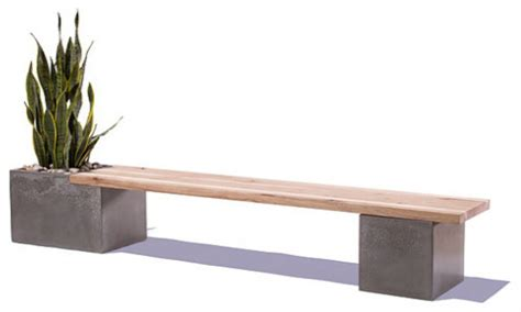 bench over the tops benches stools concrete and wood table top modern concrete and wood bench outdoor