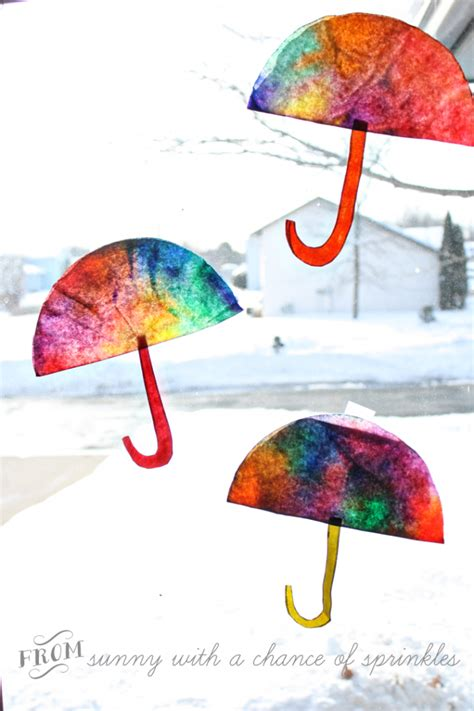 umbrella art pattern coffee filter umbrellas fun family crafts