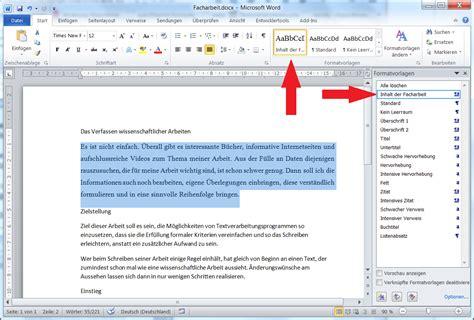 Lebenslauf Formatvorlage Word 2010 Facharbeit