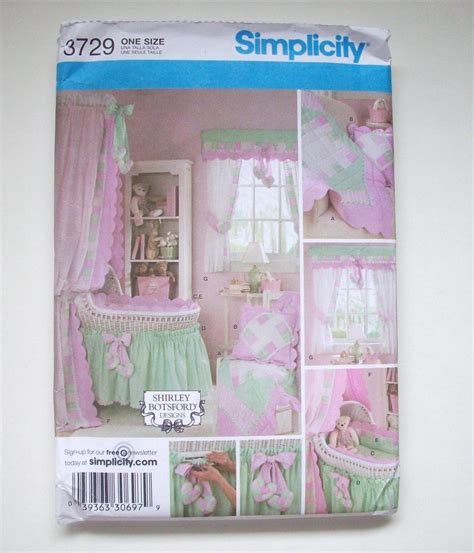 Baby Crib Patterns Simplicity 3729 Baby Nursery Accessories Crib Bassinet Sewing Pattern New Home Decor Patterns