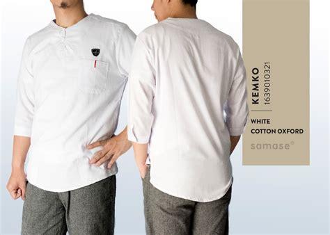 baju koko warna putih samase keren trendy dan fashionable