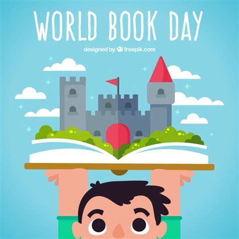libro island world book day fondo de ni 241 o con un libro y un castillo descargar vectores gratis
