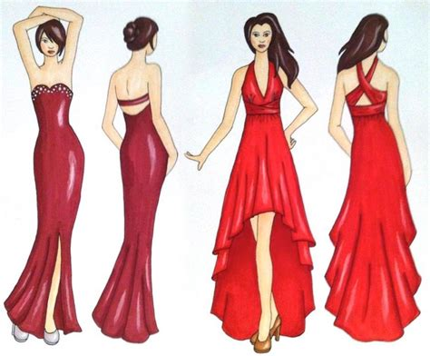 design clothes pinterest prom dress sketches illustrations my artwork