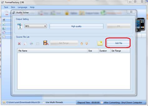 format factory mp3 cara menggabungkan mp3 dengan format factory mas faqih