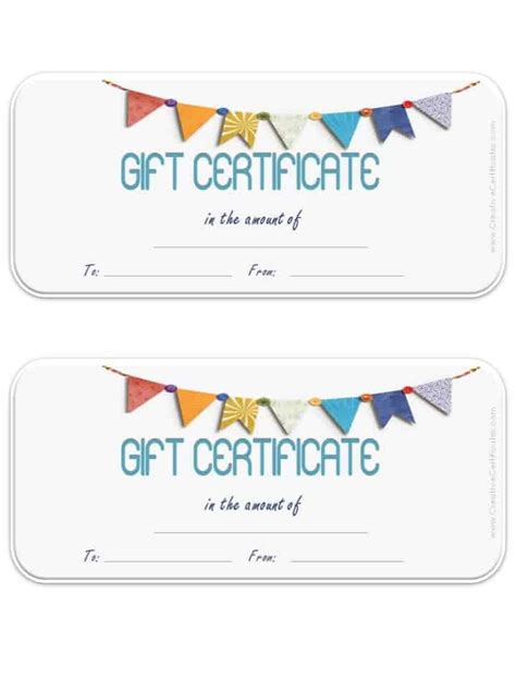 blank gift card template free gift certificate template customizable