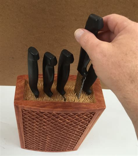 kitchen knives holder weaved kitchen knife holder carvebuddy