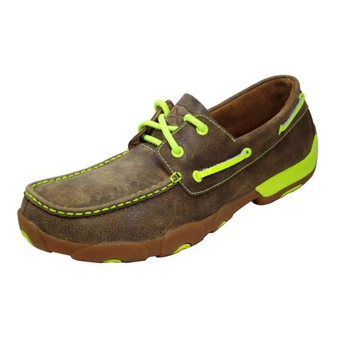 twisted x shoes for twisted x s boat shoes w lime pops d d outfitters
