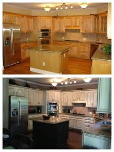 Before And After Pictures Of Kitchen Cabinets Painted Before And After Painted Maple Cabinets Kitchen