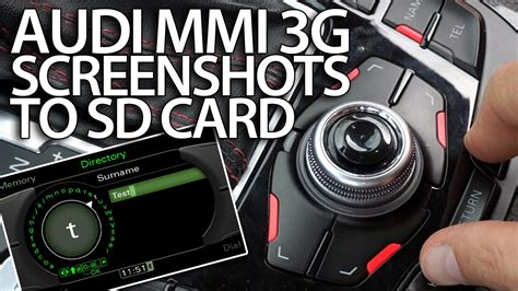 Audi A5 Sd Karte Format by How To Take Screenshots With Audi Mmi 3g To Sd Card A1 A4