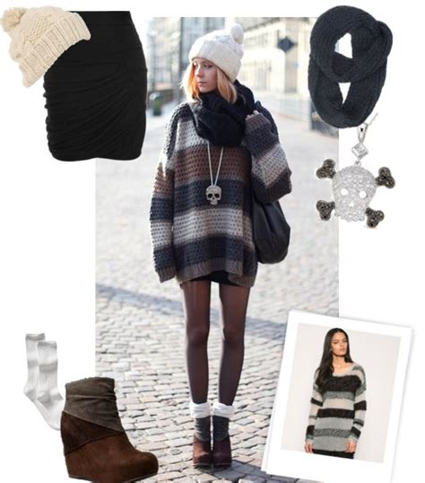 Lj Pop Sweater winter style look featuring striped sweater and