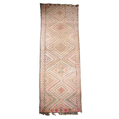 Tribal Runner Rug Vintage Zaiane Moroccan Tribal Runner Rug Circa 1960 For Sale At 1stdibs