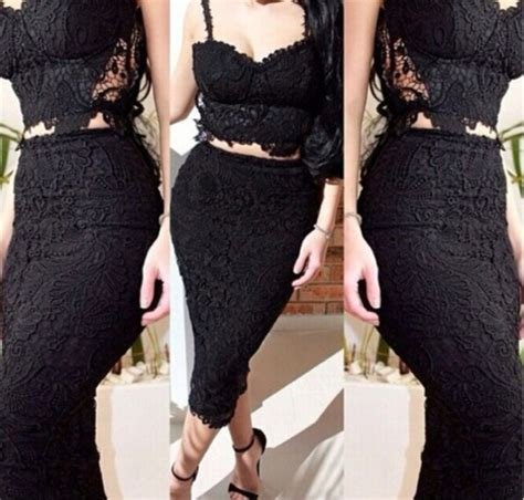 dress lace two lace dress lace skirt lace crop