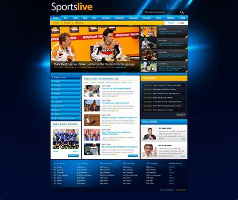 sports templates sport website template 25480