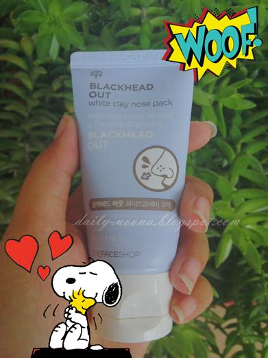 Harga The Shop Blackhead Out White Clay Nose Pack noona review the shop blackhead out white