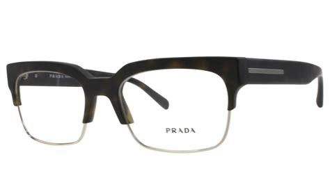 new prada eyeglasses vpr 19r brown haq 101 vpr19r 54mm