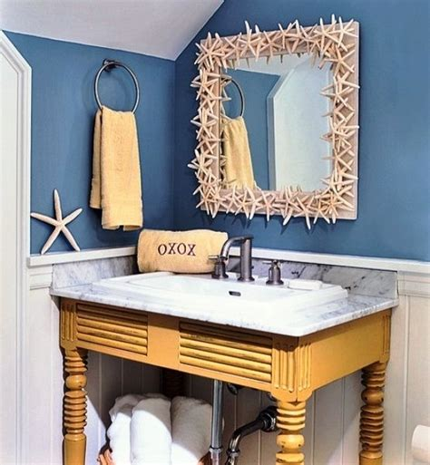 beach themed bathroom ideas mirror border 32 seaworthy beach themed bathrooms you can
